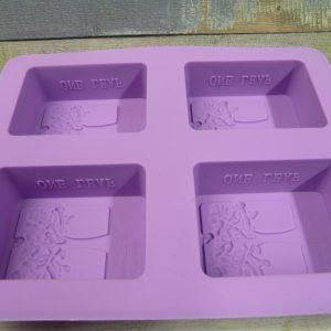 Fa mintájú, szilikon szappanöntő forma, 4db-os